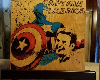 Captain America - Pyrography