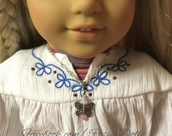 Butterfly necklace fits American Girl dolls