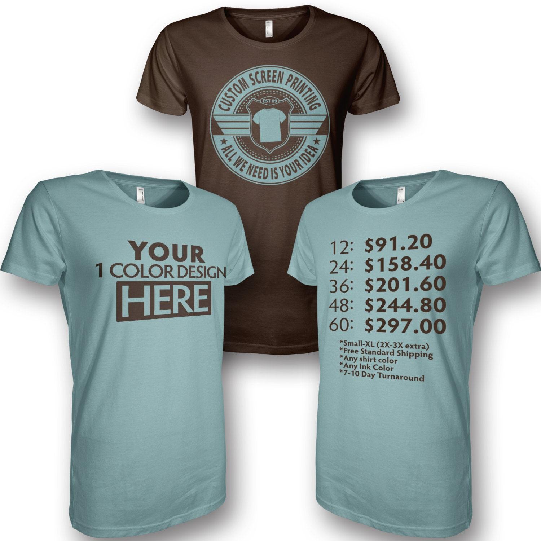 Custom screen printing custom t shirts custom silk screen for Custom screen print shirt