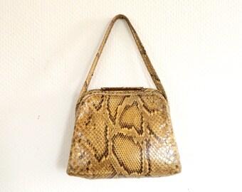 Antique leather bag, vintage bag, leather bag, handbag, vintage bag 40 s