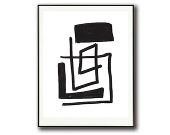 Black and White Abstract Art #2 | Instant Download | Print at Home | Digital Abstract Art Print |