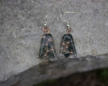Orgonite trapezoid shaped earrings
