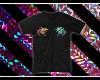 Anime Eyes Hologram Holographic T-shirt