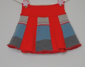 Lambswool baby girl shorts / diaper cover/ soakers with skirt, Size M