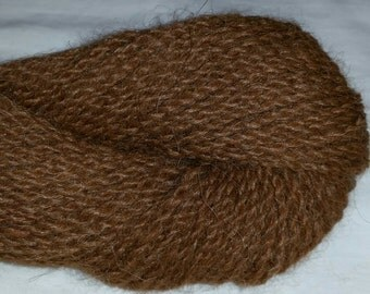 100% Alpaca Yarn, Light Brown, 2-ply