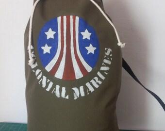 bag backpack colonial marines aliens
