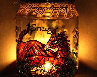 Smaug candle holder