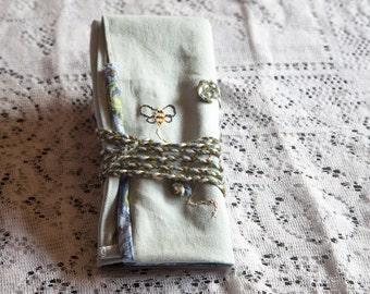 Handmade Rollup Supplies Bag