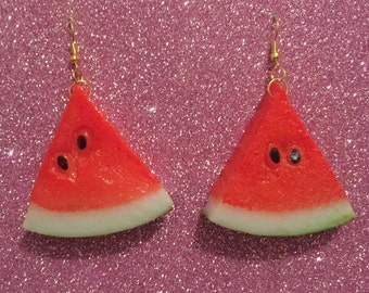 Watermelon slice earings