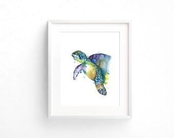 Turtle Watercolour Print