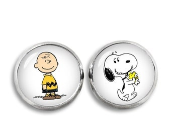 Charlie Brown and Snoopy Stud Earrings Snoopy Jewelry Geeky Fangirl Fanboy Christmas Gift