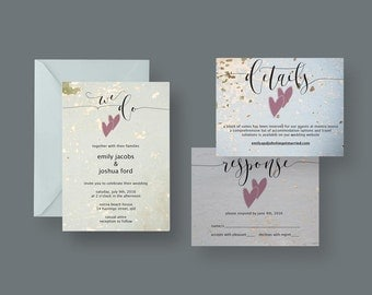 Rustic Wedding Invitation or Suite