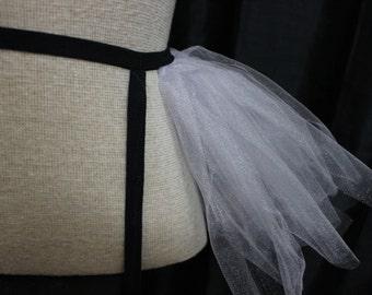 Black and Purple Tutu Garter belt