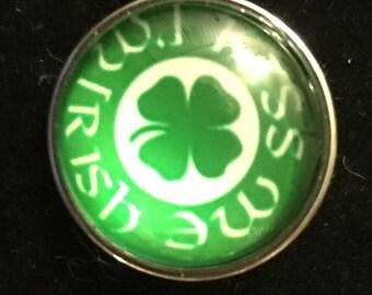 Kiss me I'm Irish Snap - This snap fits all 18mm - 20mm jewelry