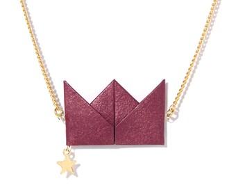 Necklace - Drama Queen - marsala
