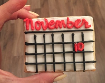 Save the Date Calendar Cookies
