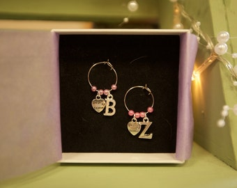 Best Friends Wine Glass Charm Set