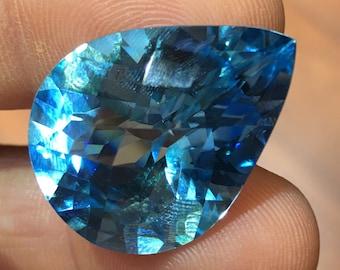 Blue topaz 20x27mm loose gemstone item90