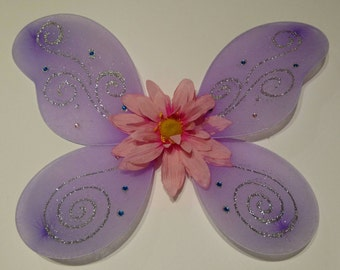 Decorated Purple Butterfly Wings