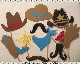 Baby Shower Probs|Photo Booth Props|Western Party|Cowboy Party