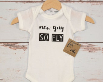 New Guy So Fly Baby Bodysuit, Baby shower gift, First birthday, Baby gifts, Baby shirt, Baby Outfits, New Baby, Tee Shirt