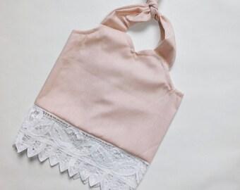 Light Pink Sweetheart Vintage Lace Infant Top
