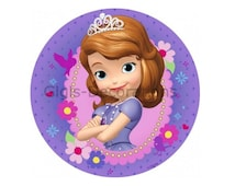 Sofia the First Edible Cake Decoration Topper Image