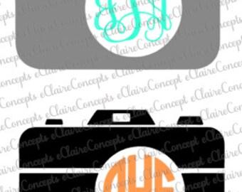 Camera Monogram Logo SVG, JPG, PNG Pdf Cricut, Silhouette Studio Cut File