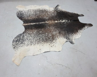 New Brazilian Hair On Cowhide Rug Exotic Salt and Pepper Cowhide Leather