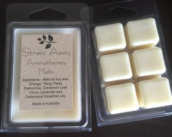 Aromatherapy Essential Oil Soy Melts - Stress Away