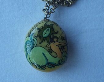 Vintage One of a Kind Astrological Rock Necklace