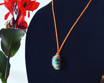 Chrysocolla Necklace in Copper