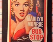 Bus Stop Movie Poster 12x18' Reproduction // Marilyn Monroe // Sexy // Norma Jean