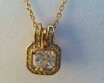 Cubic Zirconia And Gold Pendant