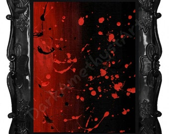 Red and black abstract painting