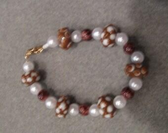 HANDMADE BEADED BRACELET Lampwork Beads