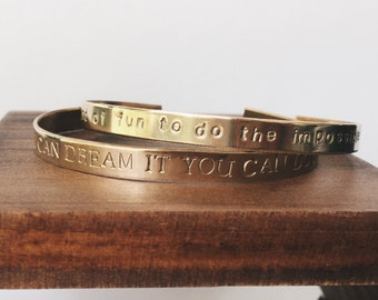 If You Can Dream It You Can Do It // The Walt  Cuff Bracelet