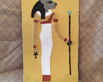 Applique of Bastet - Egyptian Goddess