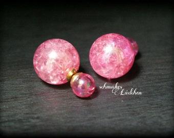 Pink Pearl Earrings DoppelPerlen