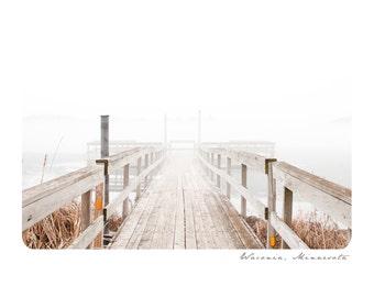 Waconia Notecard Set ~ Dock Fog