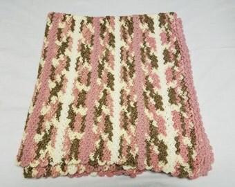 Vertical Stripes Baby Girl Blanket