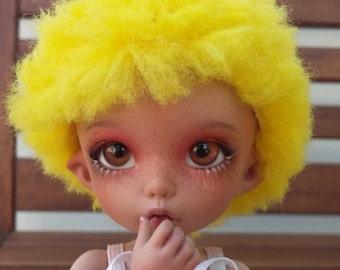 BJD pukifee color flashy citron wig 5-6