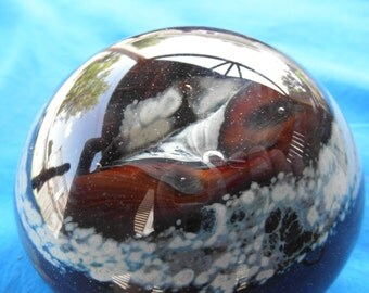 Vintage Art Glass Paperweight Paper Weight  Collectible
