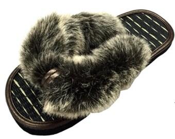 Extreme Mink Faux Fur Sandals