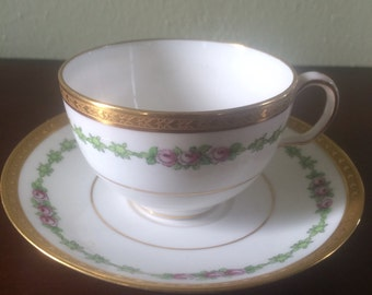 Davis Collamore Pink Roses by Spode Teacup and Saucer