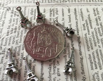 6 Eiffel Tower Charms