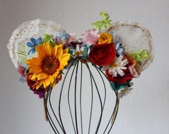 Summertime Floral Crown Ears