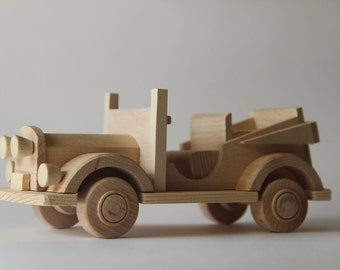 "Wooden toy car cabriolet ""Nikitka"", children toy, eco friendly toy"