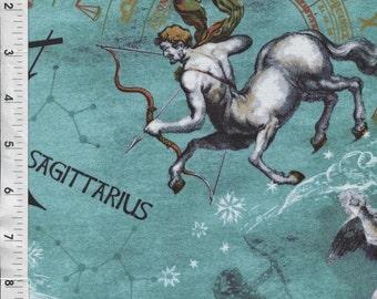 Horoscope Fabric, Astrology Fabric - Fabri-Quilt Horoscope New Dawn Sagittarius Sign Fabric 100% cotton Fabric by the yard FQ211
