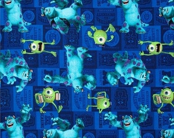 Monsters inc nursery etsy for Monster themed fabric